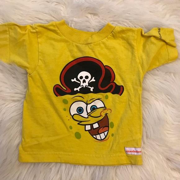 SpongeBob Squarepants Other - Pirate Spongebob Universal Studios Tee 2T